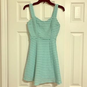 Charlotte Russe Turquoise Dress with Silver Accent
